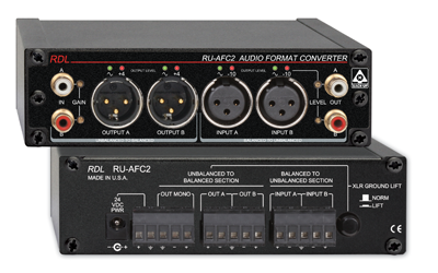 RDL Introduces RU-AFC2 Stereo Audio Format Converter